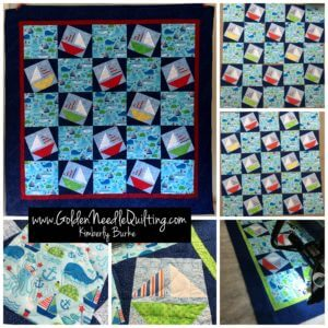 baby quilt, Golden Needle Quilting, Kimberly Burke