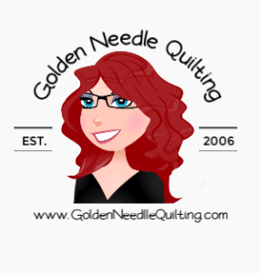Golden Needle Quilting Logo